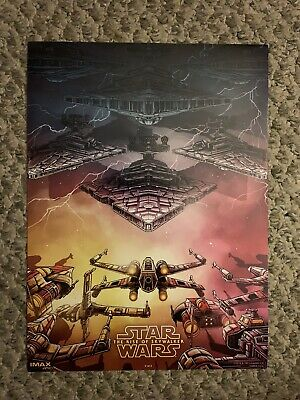 10X LOT STAR WARS THE RISE OF SKYWALKER 13 X9.5 IMAX MOVIE POSTER  MINT NOT FAKE
