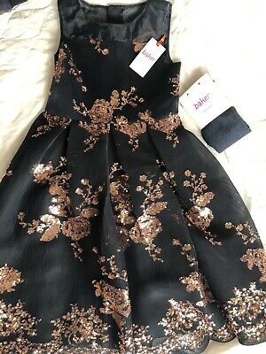 Ted Baker Girls Occasion Party Dress Age 7 Blue With Sparkle Tight New With Tag