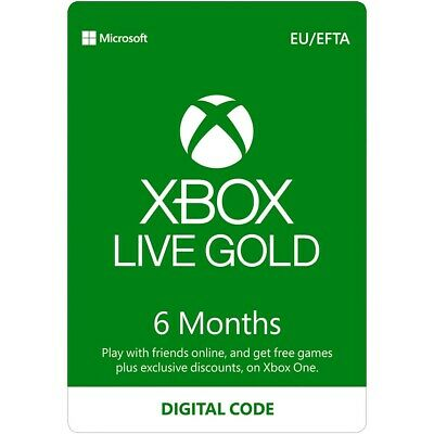Xbox Live Gold 6 Months XBOX One / XBOX 360 - GLOBAL - Quick - See Description