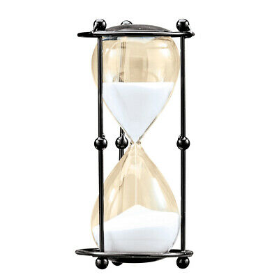 Black Metal Sand Timer 30 minute Decorative Hourglass Desk or Office Decoration