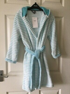 NEW....Blue Mix Marks and Spencer Dressing Gown...7-8 yrs