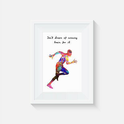 Train for it, print, poster, Sprinter, coach, trainer, wall art, athlete, gift
