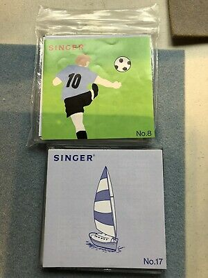 Singer Embroidery Card 7. or 17 or: Buy both For £30