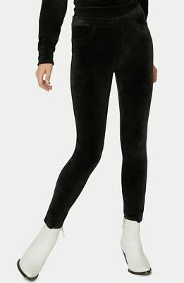 $195 Sanctuary Womens Black Stretch Velour Pull-On Grease Leggings Pants Size XS