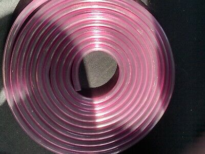 5 Mtrs 5mm  Pink Tint Classic 2 Stoke Fuel Hose / Fuel Pipe Motorcycle