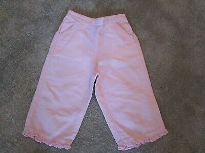 *** Next Girls Pink Cropped Trouser - Age 2-3