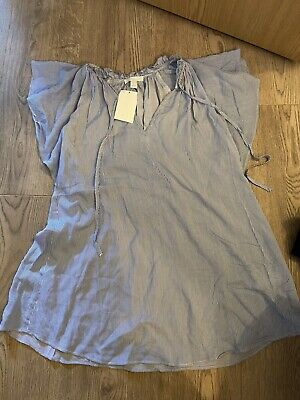 h&m maternity top blouse size 8 10 s small new