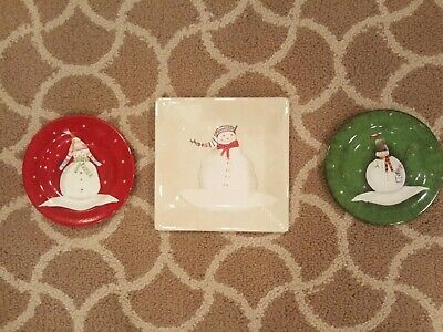 Oneida SNOWMATES Dinner/Salad-Luncheon Plates By Debbie Taylor - lot of 3