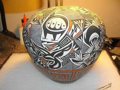 ACOMA POLYCHROME POTTERY SEED JAR by B.L. CERNO ACOMA NEW MEXICO ex RITCHIE COLL