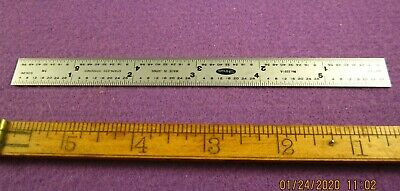 Precision Machinist Tool 6 Inch Stainless Steel Rule Shinwa 32 Nds 64 Ths 10 Ths