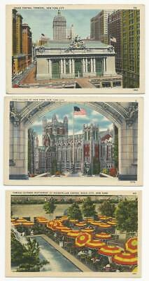 New York Postcards. 6 cards.  New York City.  Rockefeller Center. Grand Central