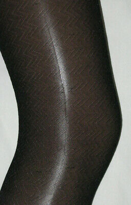 Black Patterned Tights. Girls Age 7-8