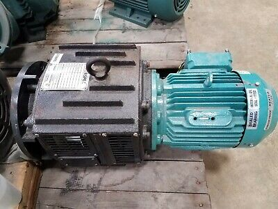 Brook Crompton 3 HP 3 PH 230/460V Motor w/Torspec 132TCD4/3HP Eddy Current Brake