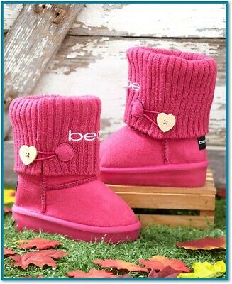 Toddler Light Up Shoes Kids Girls Winter Boots Pink Faux Suede Warm Fashion Walk