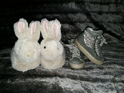 Girls Slippers/Trainers infant Size 4 Next/River Island