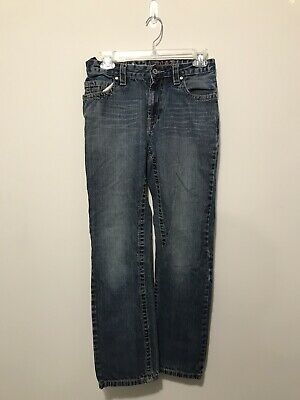 Urban Pipeline Maxwear Boys Adjustable Waist Straight Leg Jeans Size 16 Slim