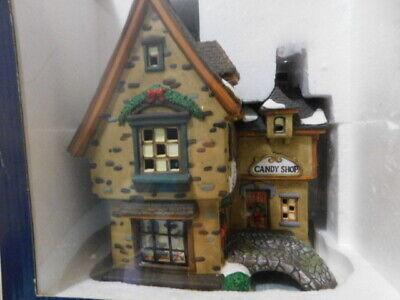 """Holiday Time Lighted Porcelain House """"Julie's Bakery & Candy Store"""" - Preowned"""