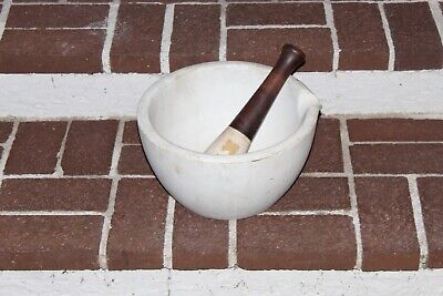 """12.25"""" Extra Large antique mortar and Pestle Thomas Maddock & Sons Apothecary"""
