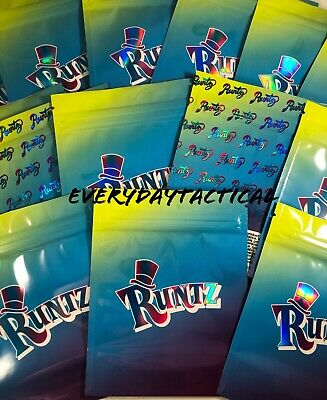 Runtz Holographic Small Sized *Empty* Mylar Bags *Ships In 24 Hours Free*