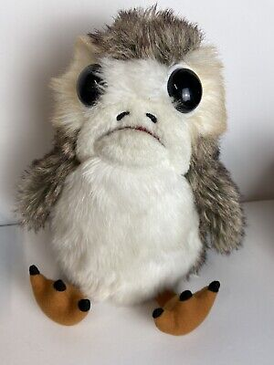 "Star Wars The Last Jedi Talking Moving Mouth Wings Porg 9"" Action Plush Se7en20"
