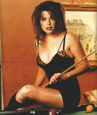Neve Campbell - In Lingerie Sitting On A Pool Table !!!  Sexy !! Anyone For Pool