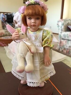 SARAH The Easter Girl With Bunny by Pauline Bjoness- Sale !!!