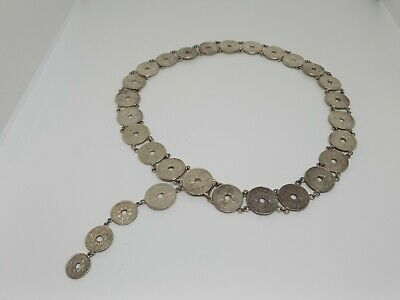Papa New Guinea Silver One Shilling Belt/Necklace - Possibly Trench Art