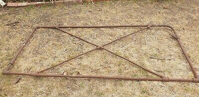 Vintage McKay Sunshine Gate retro farm wrought iron fittings 8ft collectable