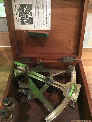 "19th Century Brass Sextant, marked ""Charles Piers"" Nautical Maritime Marine Boat"
