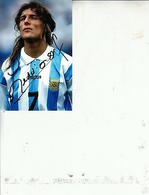 Claudio Paul Caniggia Hand Signed 6 X 4 Inch Colour Photograph. Argentina