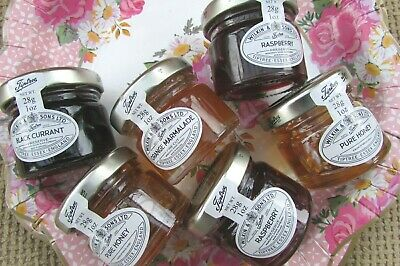 6 Mini Jars Of Tiptree Wilkin & Sons Pure Jam Preserve Marmalade Honey 28g **