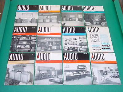 1963 Audio Magazines, Complete Year, 12 Issues