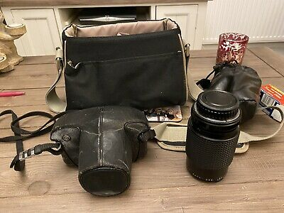 Pentax ME Super 35mm SLR Film Camera with 50mm Lens and Makinon 1:45 Zoom Lense