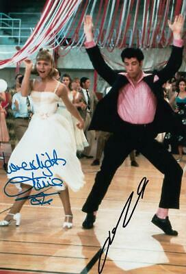 John Travolta, Olivia Newton John *Grease* Signed 8x12 Photo (Authentic)