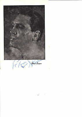 STEVE LOGAN WRESTLER IN 1960s HAND SIGNED (personalised) PHOTOCARD