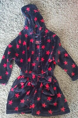 Dressing gown with a star pattern, really soft aged 3-4yrs