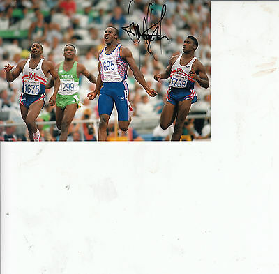 LINFORD CHRISTIE - HAND SIGNED signed 6 x 4 inch - Olympic gold medalist