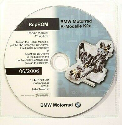 Dvd Manuale Officina Reprom K2X Workshop Bmw R1200Gs-R-Rt-S-St,Hp2,R900Rt 4^06