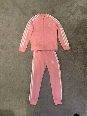 Girls Pink Adidas Tracksuit Age 8-9 Great Condition Hardly Worn