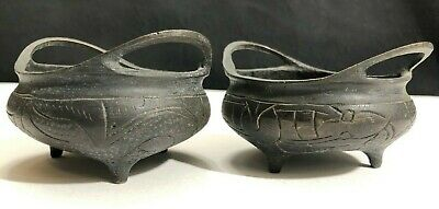 Very Fine Pair Of Antique Chinese Bronze Censer/Incense Burners-Qing Xuande Mark
