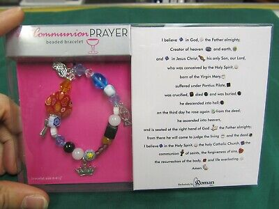 First Communion Prayer Beaded Bracelet