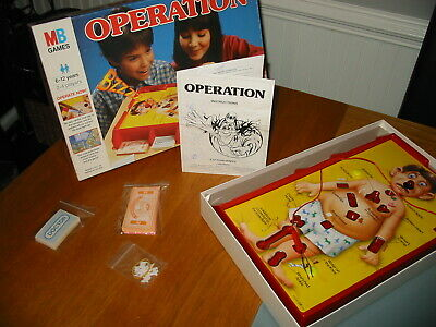 Old Vintage 1996 MB Games Operation Classic Family Fun Electronic Game Toy VGC