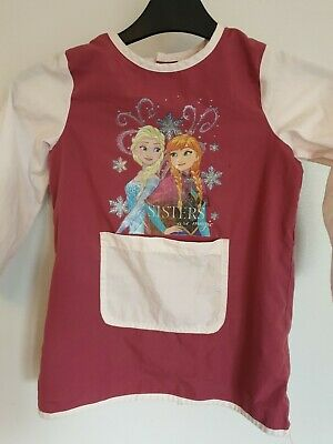Official Disney's Frozen Elsa & Anna Long Sleeved Tunic Top Free P&P Age 4-5