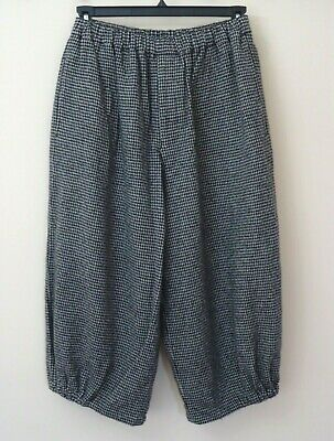 COMME des GARCONS Women's Wool Blend Houndstooth Wide-Leg Cropped Pants Size S