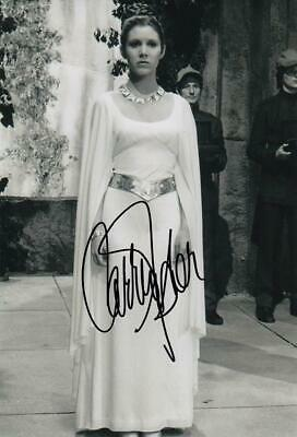 Carrie Fisher *Princess Leia, Star Wars* Signed 8x12 Photo (Authentic)