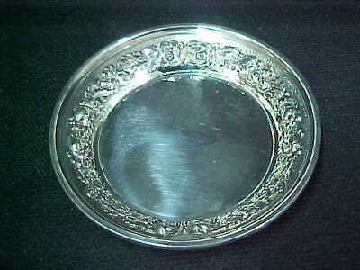 Stieff Sterling Silver Repousse Butter Pat # 48-T
