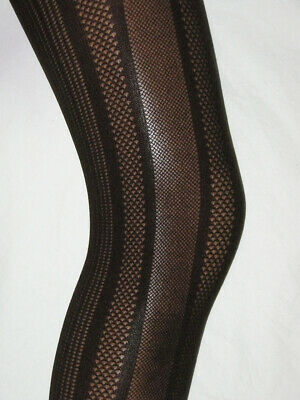 Girls Dark Brown Tights Opaque. Age 7-9 Ribbed Pattern