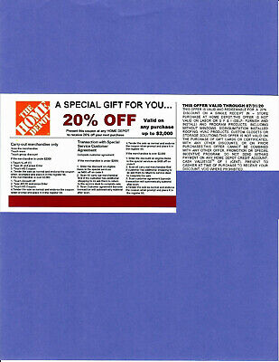* (1) * 20% OFF HOME DEPOT Competitors Coupon at Lowe's exp 7/31/20