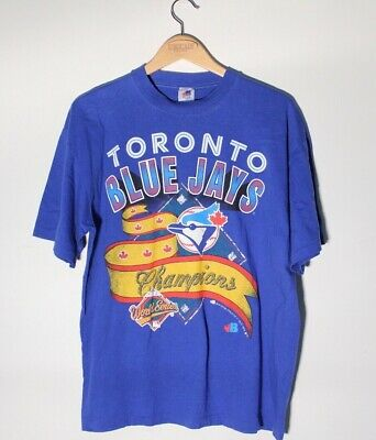 Vintage 1992 Toronto Blue Jays World Series Champions Shirt Mens Size Large