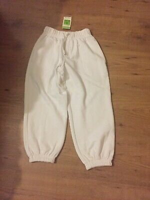 New Girls White Marks & Spencer Jogging Cadual Trousers Age 4 Years